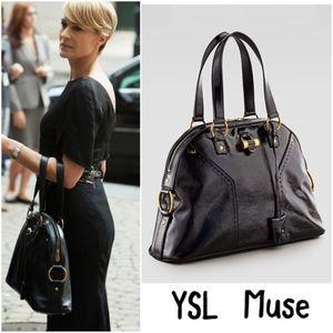 Authentic Yves Saint Laurent Muse Bag-Chocolate